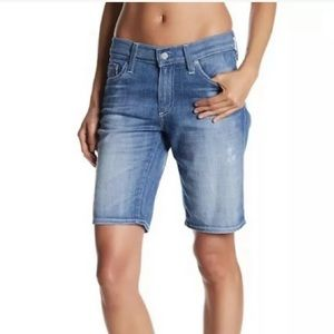 AG Nikki Short Relaxed Distressed Skinny Bermudas